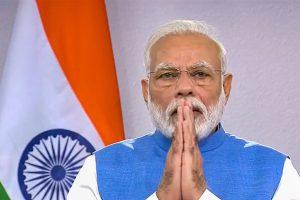 **EDS: VIDEO GRAB** New Delhi: Prime Minister Narendra Modi gestures during his address to the nation on coronavirus pandemic in New Delhi, Thursday, March 19, 2020. (PTI Photo)(PTI19-03-2020_000207B)