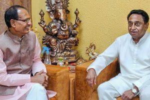 शिवराज सिंह चौहान के साथ कमलनाथ. (फोटो: पीटीआई)
