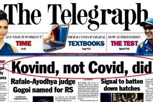 The Telegraph Ranjan Gogoi Ramnath Kovind