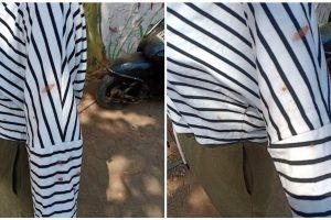 मणिपुरी युवती के कपड़ों पर पड़े थूक के निशान. (फोटो: फेसबुक)