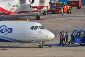 Chennai: An Indigo plane is prepared for take-off from Chennai airport for domestic travel, after flights resumed during the ongoing nationwide lockdown, in Chennai, Monday, May 25, 2020. All scheduled commercial passenger flights were suspended since March 25 when the government imposed a nationwide lockdown to curb the coronavirus pandemic. (PTI Photo/R Senthil Kumar)(PTI25-05-2020 000111B)