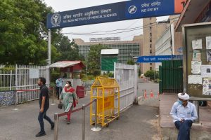 New Delhi: A view of AIIMS where hundreds of health workers have tested positive with coronavirus infection, during the ongoing COVID-19 nationwide lockdown, in New Delhi, Thursday, June 4, 2020. (PTI Photo/Manvender Vashist)(PTI04-06-2020_000174B)