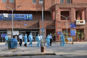 New Delhi: National Human Rights Commission (NHRC) team led by Latika Kalra visits Lok Nayak Jai Prakash (LNJP) Hospital, during ongoing nationwide COVID-19 lockdown, in New Delhi, Thursday, June 11, 2020. (PTI Photo)(PTI11-06-2020 000142B)