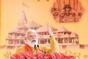 अगस्त 2020 में अयोध्या में राम मंदिर भूमि पूजन समारोह में प्रधानमंत्री नरेंद्र मोदी. (फोटो साभार: पीआईबी)