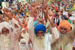 पंजाब के मुख्तसर जिले में बादल गांव में कृषि विधेयकों के खिलाफ किसानों का धरना प्रदर्शन जारी है. (फोटो: पीटीआई)