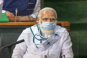 मानसून सत्र के दौरान लोकसभा में प्रधानमंत्री नरेंद्र मोदी. (फोटो: पीटीआई)