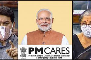 लोकसभा में वित्त मंत्री निर्मला सीतारमण और उनके कनिष्ठ मंत्री अनुराग ठाकुर. (फोटो: ट्विटर/पीटीआई