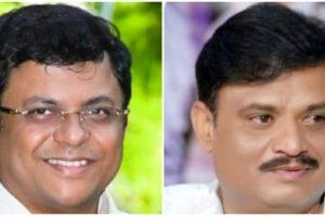 भाजपा उम्मीदवार राजेश गौड़ा और मुनिरत्न. (फोटो साभार: ट्विटर)