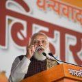 New Delhi: Prime Minister Narendra Modi addresses party workers, a day after National Democratic Alliance (NDA) garnered majority in the Bihar Assembly polls, in New Delhi, Wednesday, Nov. 11, 2020. (PTI Photo/Vijay Verma)(PTI11-11-2020 000173B)