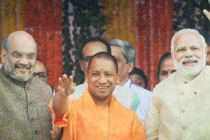 अमित शाह, योगी आदित्यनाथ और नरेंद्र मोदी. (फाइल फोटो: पीटीआई)