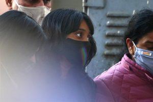 23 फरवरी को सुनवाई के दौरान पटियाला हाउस अदालत में दिशा रवि. (फोटो: पीटीआई)