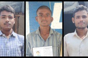 राहुल कुमार राम, तौकीर शाह और रोहित कुमार राम. (बाएं से दाएं) (सभी फोटो: फ़ैयाज़ अहमद वजीह)